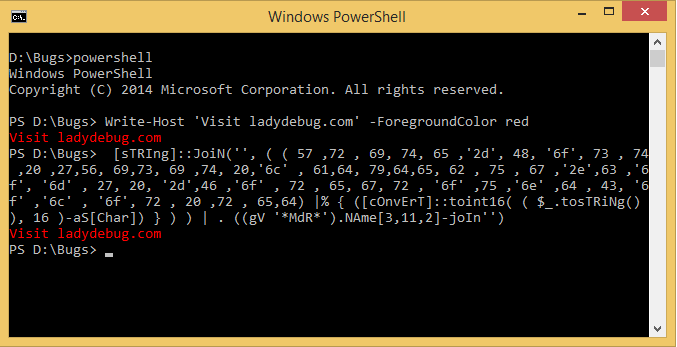 Testing obfuscated commands