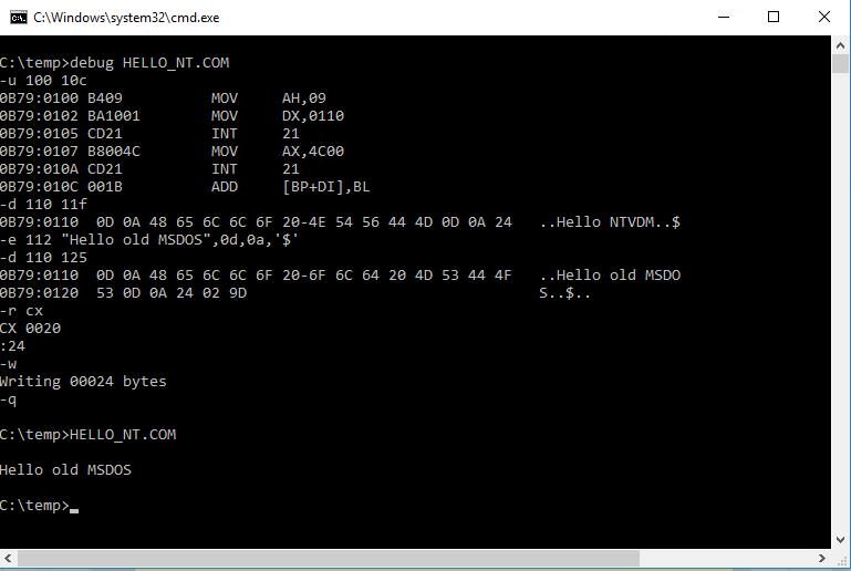 Debug. Edit COM file