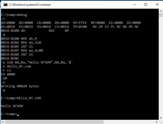 Debug. New COM file