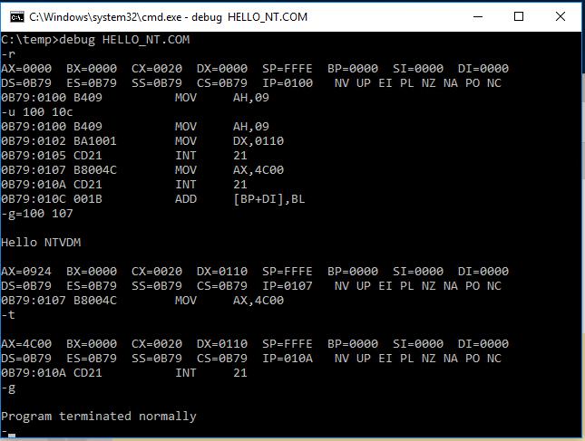Debugging of COM file