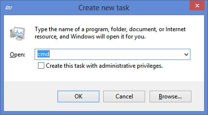 Start command prompt