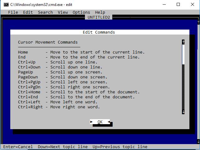 Command Prompt Edit.